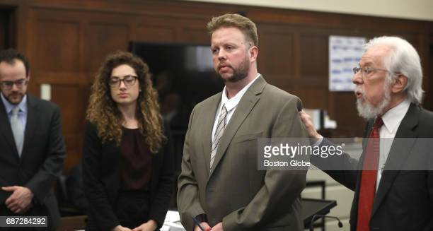 Defense attorney Jonathan Shapiro right introduces Michael McCarthy to potential jurors From left are BC Law student intern Michael Patnode and...