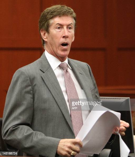 Defense attorney Mark O'Mara argues for his client George Zimmerman during his bond hearing for the shooting death of Trayvon Martin in Sanford...