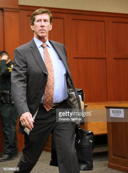 Defense Attorney Mark O'Mara arrives in court as attorneys for the state and George Zimmerman argue whether the attorney for Trayvon Martin's parents...
