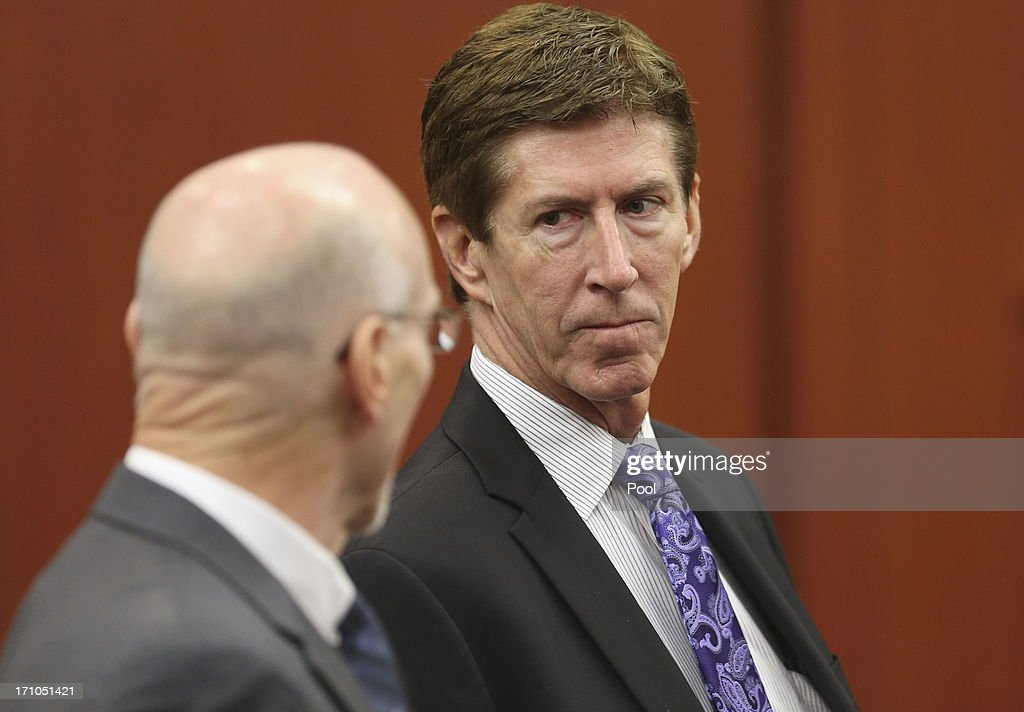 Defense attorneys Don West (L), and Mark O'Mara raised several concerns with judge Debra Nelson before opening arguments on Monday during George Zimmerman's trial in Seminole circuit court June 21, 2013 in Sanford, Florida. Zimmerman is charged with second-degree murder for the February 2012 shooting death of 17-year-old Trayvon Martin.