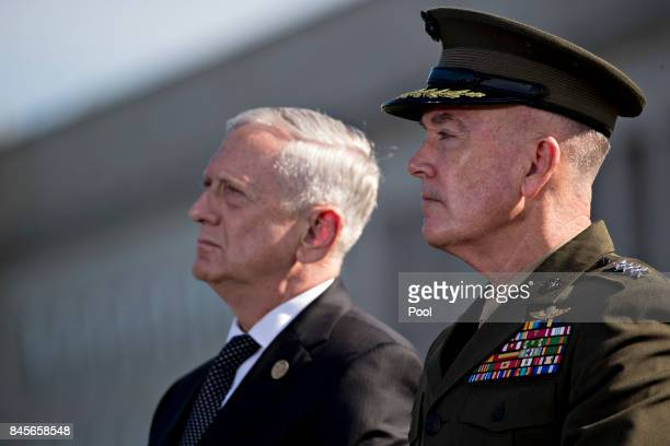 S Defense Chariman Jim Mattis and Chairman of the Joint Chiefs of Staff Joseph Dunford attends a ceremony to commemorate the September 11 2001...