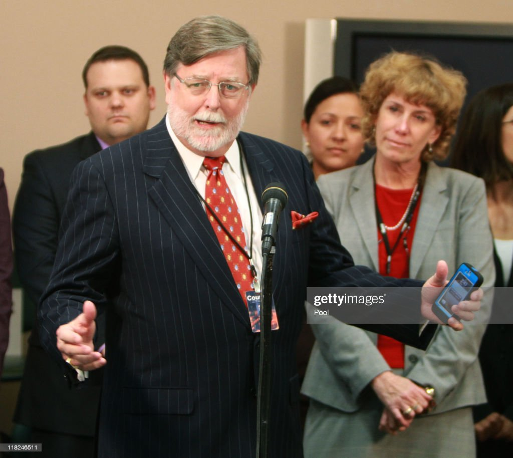 Defense co-counsel Cheney Mason makes a point while answering questions after his client, Casey Anthony, was found not guilty in her 1st-degree murder trial, at the Orange County Courthouse on July 5, 2011 in Orlando, Florida. Casey Anthony had been accused of murdering her two-year-old daughter Caylee in 2008 and was found not guilty of manslaughter in the first degree.