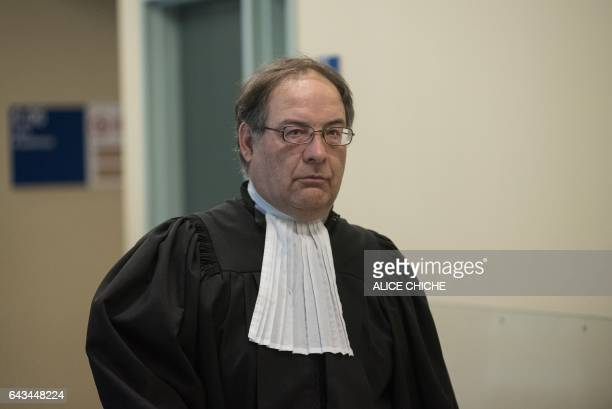 Defense counsel Jean Petit is seen on February 21 2017 at the Quebec City Courthouse before alleged mosque shooting suspect Alexandre Bissonnette's...