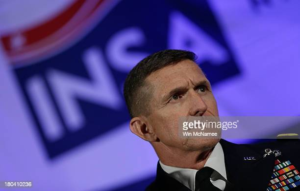 Defense Intelligence Agency Director Lt Gen Michael Flynn speaks at the Intelligence and National Security Alliance's Intelligence Community Summit...