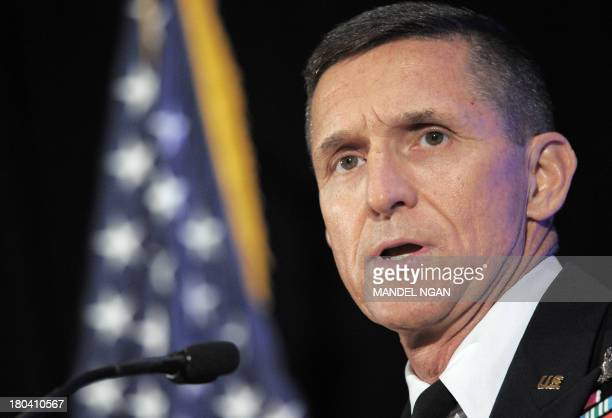 Defense Intelligence Agency Director Michael Flynn speaks during the inaugural Intelligence Community Summit organized by the Intelligence and...