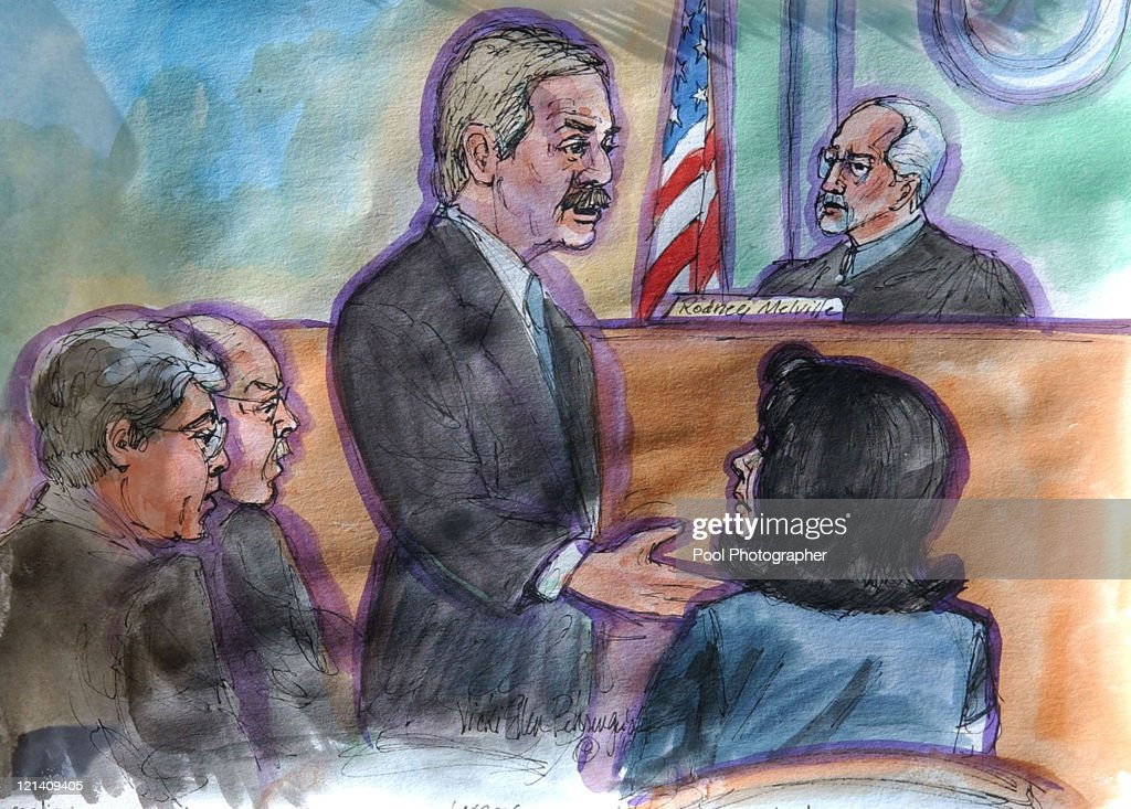 Defense lawyer Mark Geragos Artwork by Vicki Ellen Behringer