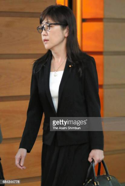 Defense Minister Tomomi Inada is seen on departure at Prime Minister Shinzo Abe's official residence after the National Security Council as North...