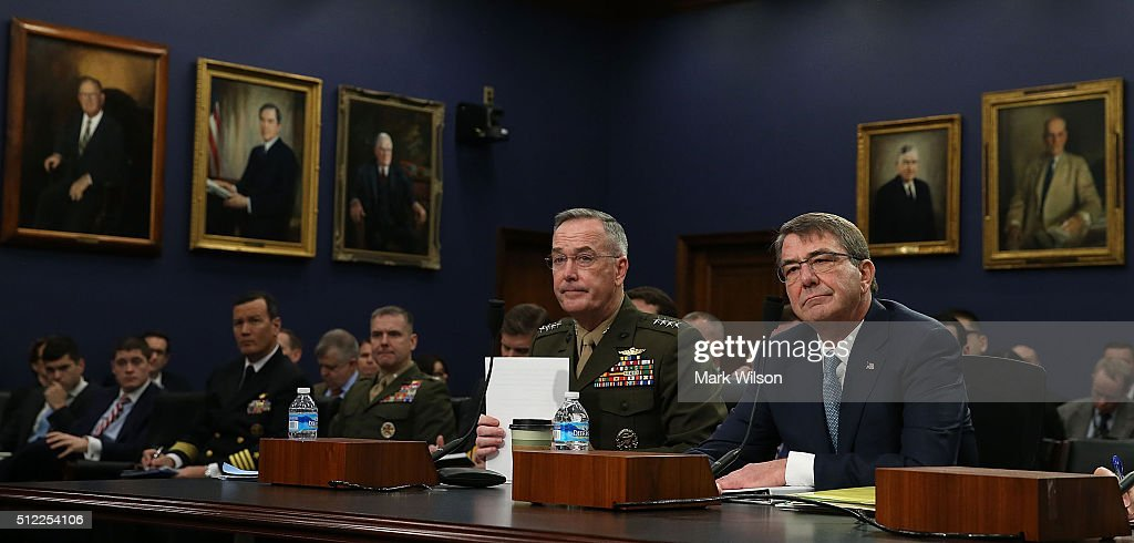 Carter And Dunford Testify At House Hearing On Defense Department Budget