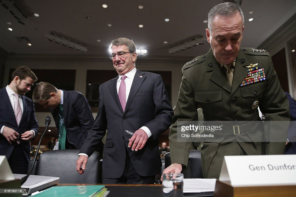 Carter And Dunford Appear Before Senate Armed Services Committee