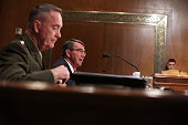 S Defense Secretary Ashton Carter and Chairman of the Joint Chiefs of Staff Gen Joseph Dunford Jr testify during a hearing before the Defense...