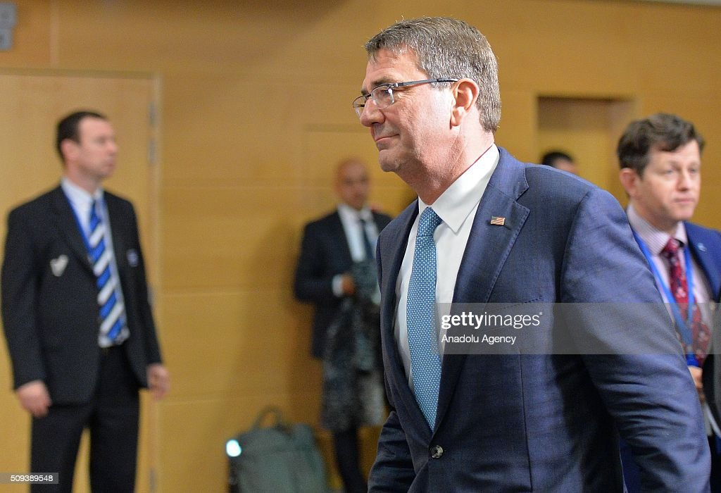 US Defense Secretary Ashton Carter attends the NATO Defense Ministers meeting at the NATO headquarters in Brussels, Belgium on February 10, 2016.