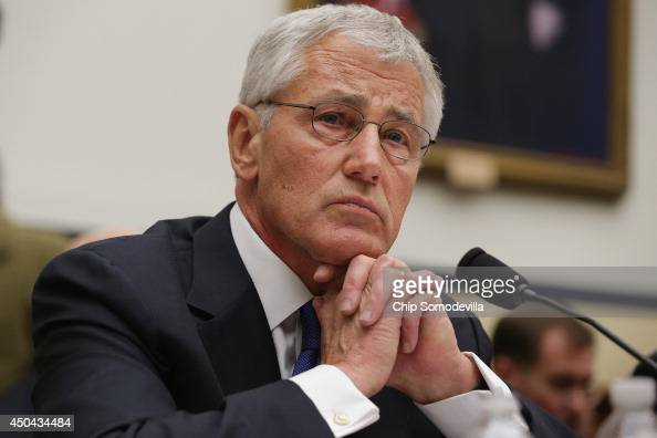 S Defense Secretary Chuck Hagel testifies before the House Armed Services Committee about the about the prisoner exchange that freed Army Sgt Bowe...