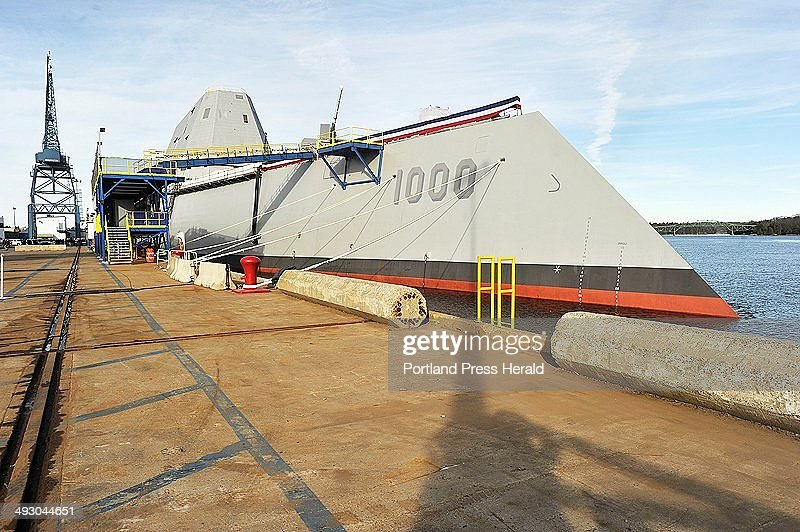 Defense Secretary Chuck Hagel toured the new DDG 100 Zumwalt class guided missile destroyer at BIW in Bath November 21 2013