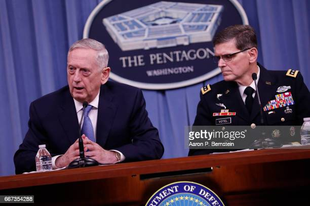Image result for images of Jim Mattis and Gen. Joseph Votel