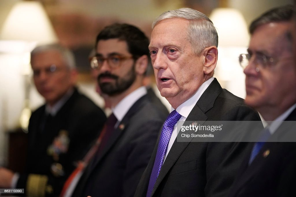 Defense Secretary Mattis Hosts Israeli Minister Of Defense At The Pentagon