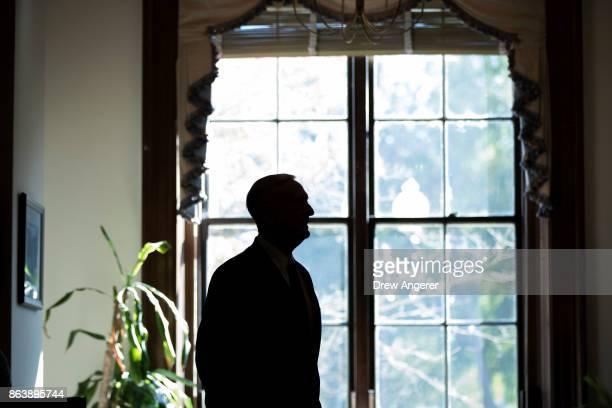 S Defense Secretary James Mattis arrives at the office of Sen John McCain on Capitol Hill to meet with Senators John McCain and Lindsey Graham...