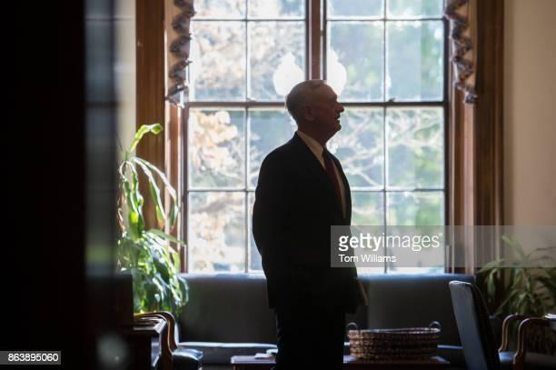 Defense Secretary James Mattis arrives in the Russell Building office of Sen John MCain RAriz before a meeting with the Senator on October 20 2017...