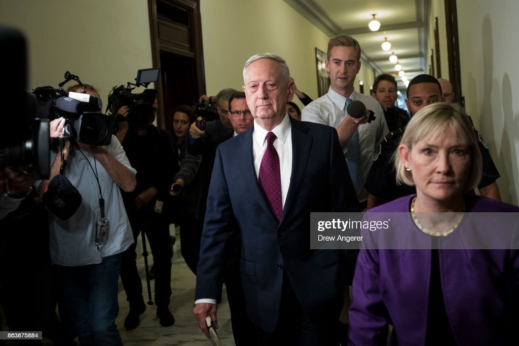 Defense Secretary Mattis Meets With Sen. John McCain On Capitol Hill