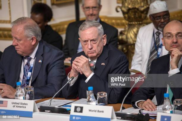 Defense Secretary James Mattis attends the London Conference on Somalia at Lancaster House on May 11 2017 in London England