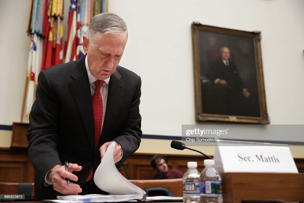 DOD Secretary Mattis And Chairman Of Joint Chiefs Dunford Testify On Budget