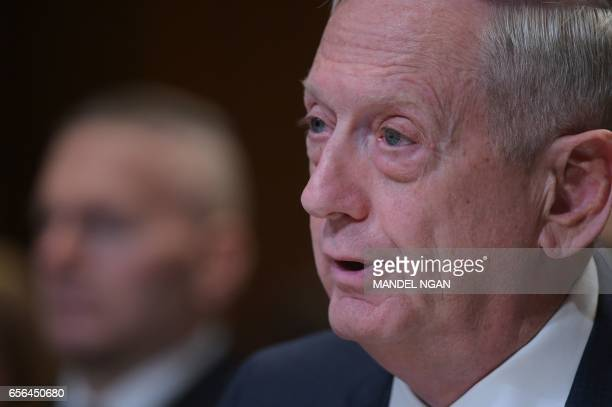 Defense Secretary James Mattis testifies before the Senate Appropriations Committee Defense Subcommittee on defense readiness and budget update in...