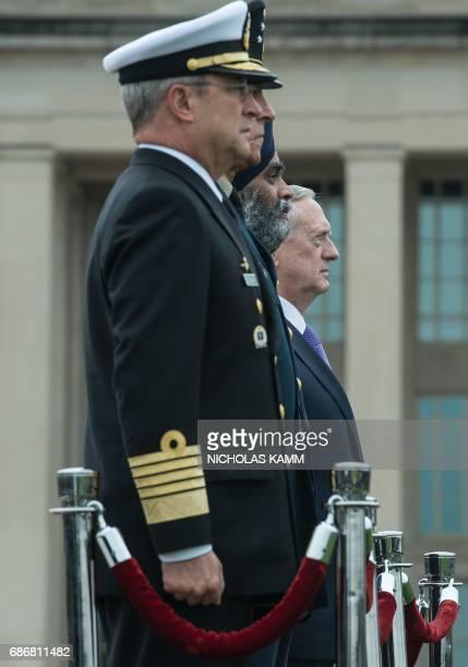 US Defense Secretary Jim Mattis Canadian Defense Minister Harjit Sajjan Mexican Defense Secretary Gen Salvador Cienfuegos Zepeda and Mexican Navy...