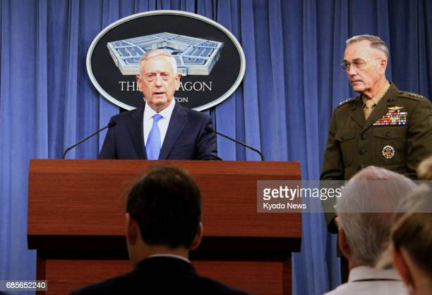 US Defense Secretary Jim Mattis tells a press conference at the Pentagon in Washington on May 19 2017 that the United States should pursue...