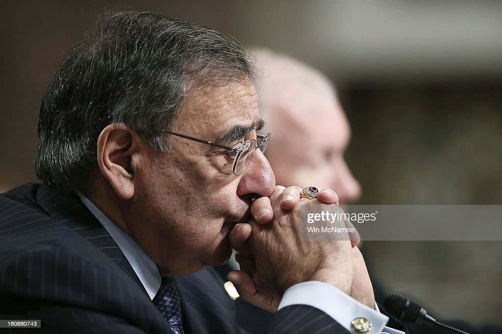 U.S. Defense Secretary Leon Panetta (L) and U.S. Chairman of the Joint Chiefs of Staff Gen. Martin Dempsey, chairman of the Joint Chiefs of Staff, testify on the attack on U.S facilities in Benghazi, Libya before the Senate Armed Services Committee February 7, 2013 in Washington, D.C. Senators questioned Panetta and Dempsey about the September 11 attacks against the U.S. mission in Benghazi, Libya, that led to the death of four Americans, including U.S. Ambassador Christopher Stevens.