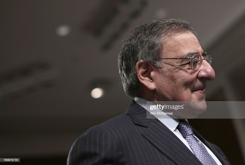 U.S. Defense Secretary Leon Panetta arrives for testimony on the attack on U.S facilities in Benghazi, Libya before the Senate Armed Services Committee February 7, 2013 in Washington, D.C. Senators questioned Panetta and Dempsey about the September 11 attacks against the U.S. mission in Benghazi, Libya, that led to the death of four Americans, including U.S. Ambassador Christopher Stevens.