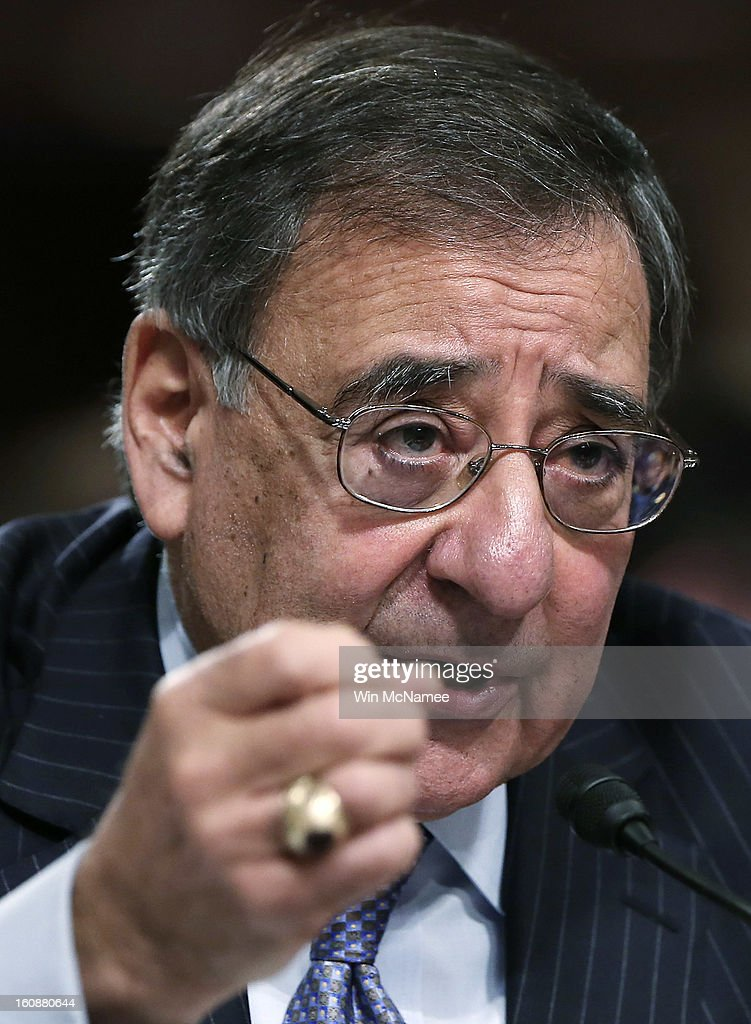 U.S. Defense Secretary Leon Panetta testifies on the attack on U.S facilities in Benghazi, Libya before the Senate Armed Services Committee February 7, 2013 in Washington, D.C. Senators questioned Panetta and Dempsey about the September 11 attacks against the U.S. mission in Benghazi, Libya, that led to the death of four Americans, including U.S. Ambassador Christopher Stevens.