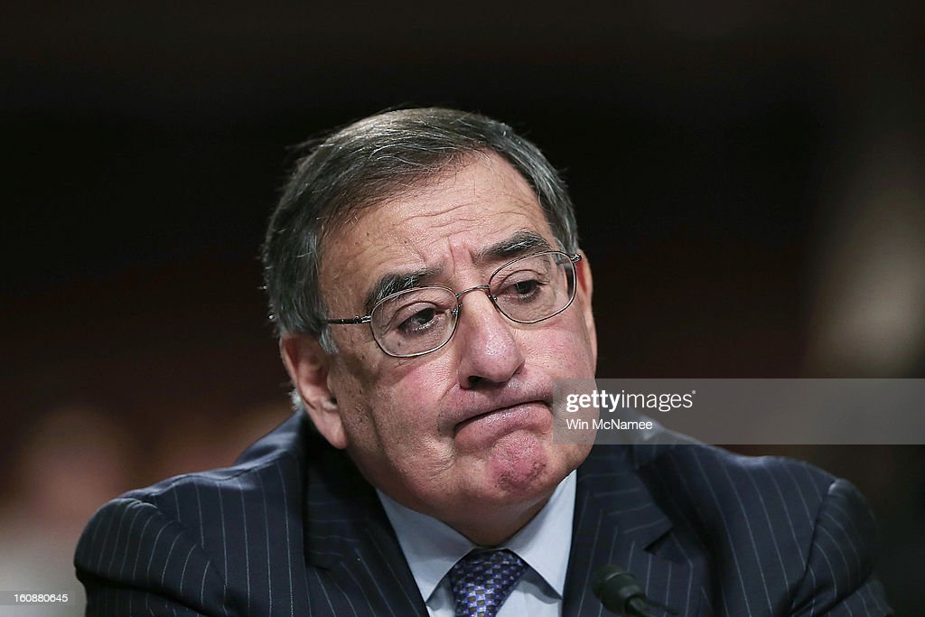 S Defense Secretary Leon Panetta testifies on the attack on US facilities in Benghazi Libya before the Senate Armed Services Committee February 7...