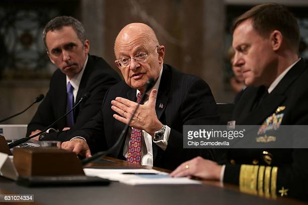 Defense Undersecretary for Intelligence Marcell Lettre II Director of National Intelligence James Clapper and United States Cyber Command and...