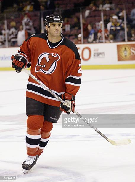 Defenseman Sean Brown of the New Jersey Devils skates against the Toronto Maple Leafs during their NHL game on October 16 2003 at the Continental...