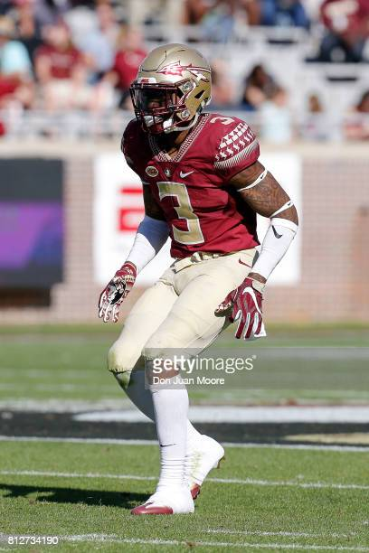 Defensive Back Derwin James of the Florida State Seminoles during the annual Garnet and Gold Spring Football game at Doak Campbell Stadium on Bobby...