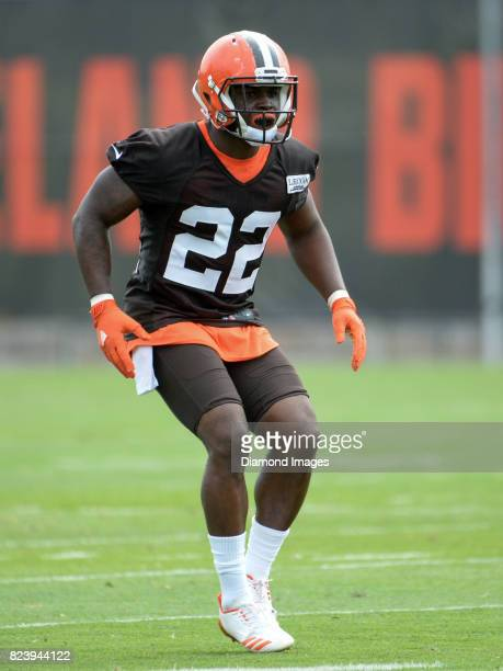 Defensive back Jabrill Peppers of the Cleveland Browns takes part in a drill during a training camp practice on July 27 2017 at the Cleveland Browns...