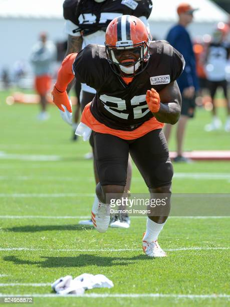 Defensive back Jabrill Peppers of the Cleveland Browns takes part in a drill during a training camp practice on July 29 2017 at the Cleveland Browns...