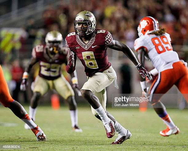 Defensive Back Jalen Ramsey of the Florida State Seminoles during the game against the Clemson Tigers at Doak Campbell Stadium on Bobby Bowden Field...