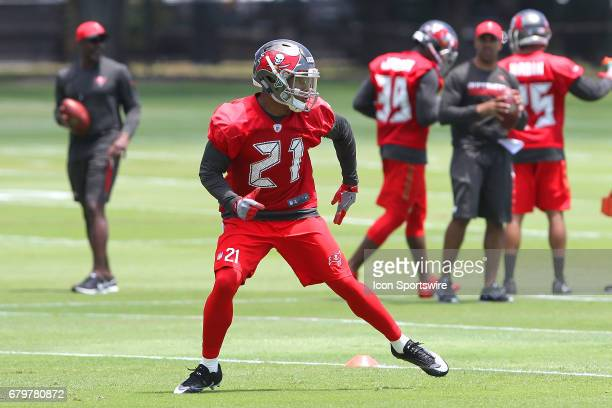 Defensive back Justin Evans back pedals during the Buccaneers Rookie Camp on May 05 2017 at One Buccaneer Place in Tampa Florida
