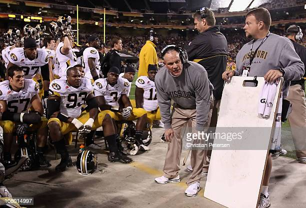 Defensive coordinator Dave Steckel of the Missouri Tigers during the Insight Bowl against the Iowa Hawkeyes at Sun Devil Stadium on December 28 2010...