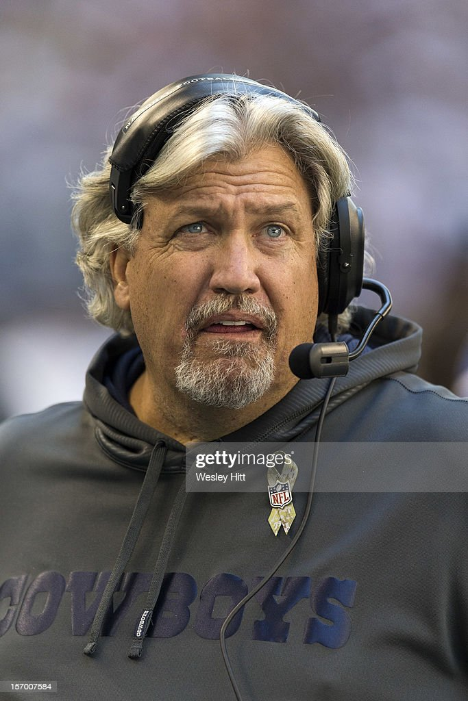 Defensive Coordinator Rob Ryan of the Dallas Cowboys on the sidelines during a game against the Cleveland Browns at Cowboys Stadium on November 18, 2012 in Arlington, Texas. The Cowboys defeated the Browns 23-20.