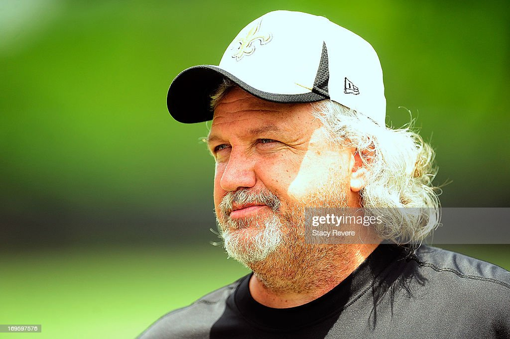 Defensive coordinator Rob Ryan of the New Orleans Saints, watches his team during OTA's (organized team activities) at the Saints training facility on May 23, 2013 in Metairie, Louisiana.