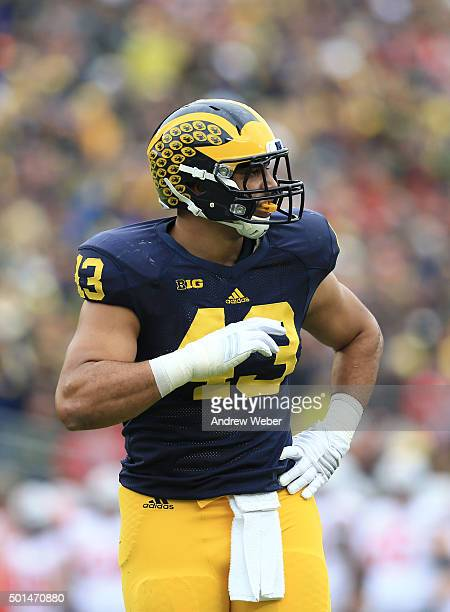 Defensive end Chris Wormley of the Michigan Wolverines during the game against the Ohio State Buckeyes at Michigan Stadium on November 28 2015 in Ann...