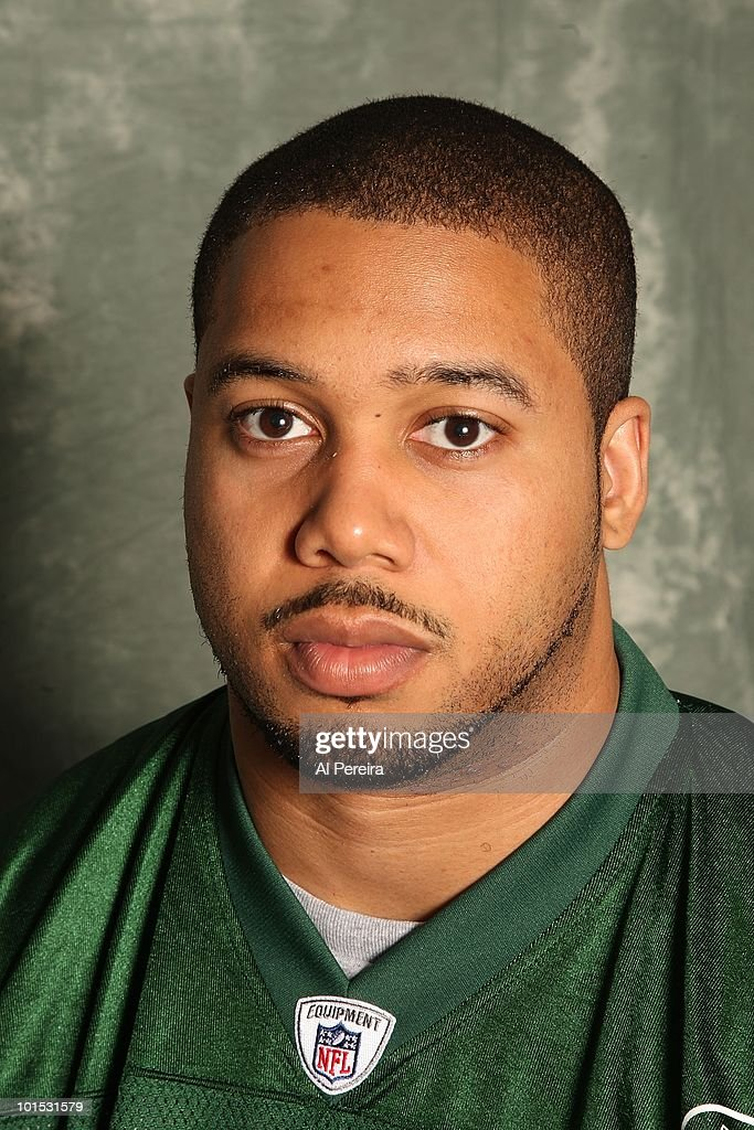 Defensive End Rodrique Wright #98 of the New York Jets appears in a portrait on May 20, 2010 in Florham Park, New Jersey.