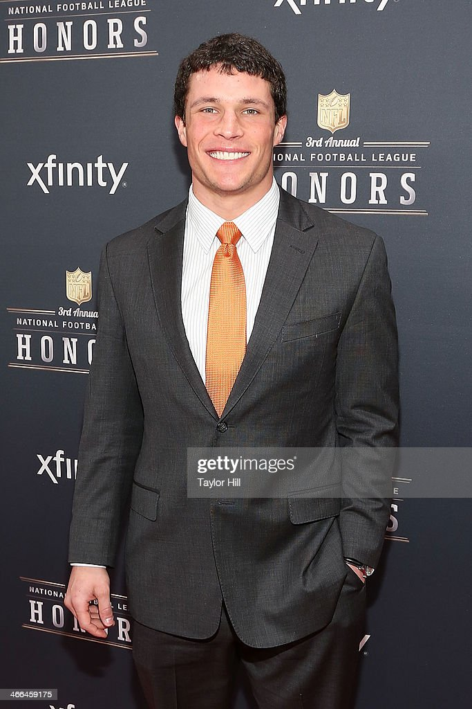Defensive Player of the Year recipient, Carolina Panthers middle linebacker <a gi-track='captionPersonalityLinkClicked' href=/galleries/search?phrase=Luke+Kuechly&family=editorial&specificpeople=6234948 ng-click='$event.stopPropagation()'>Luke Kuechly</a> attends the 3rd Annual NFL Honors at Radio City Music Hall on February 1, 2014 in New York City.