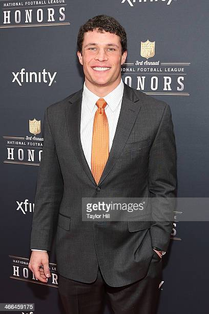Defensive Player of the Year recipient Carolina Panthers middle linebacker Luke Kuechly attends the 3rd Annual NFL Honors at Radio City Music Hall on...