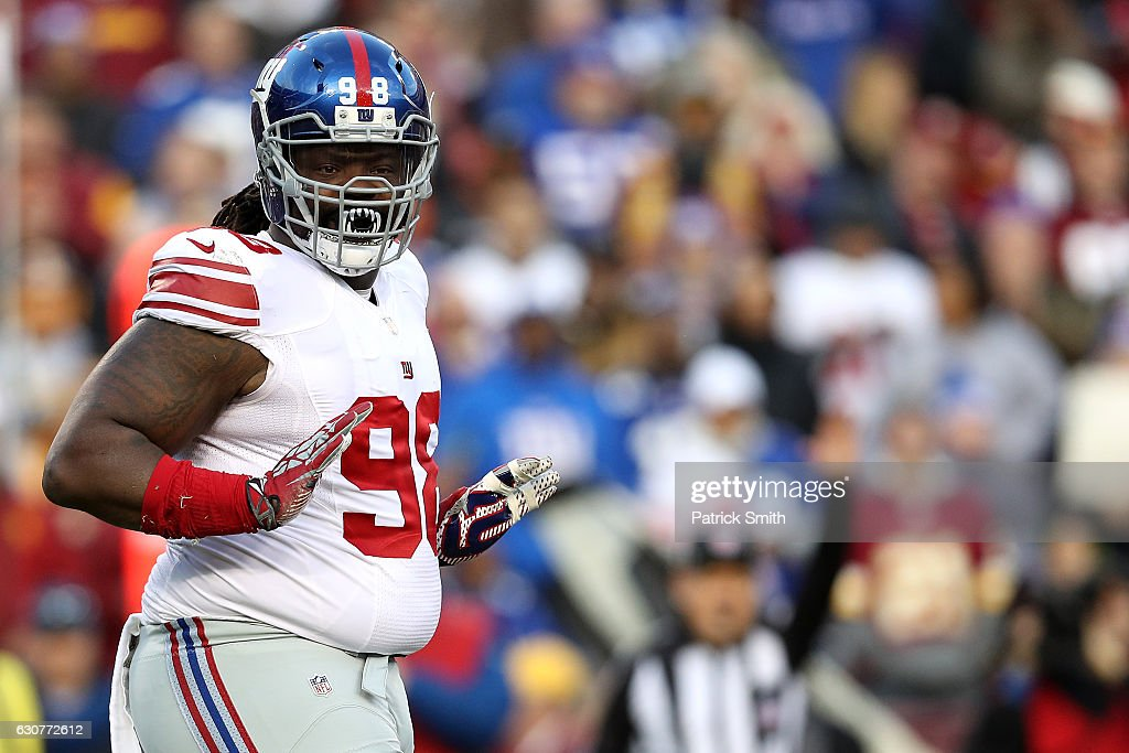 ... Defensive tackle Damon Harrison 98 of the New York Giants reacts after  a play against ... cbacd4eef