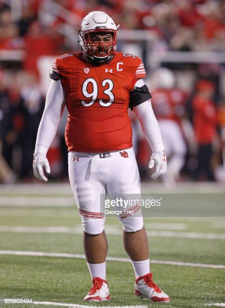 Defensive tackle Lowell Lotulelei of the Utah Utes looks to the sideline during the second half of an college football game against the Stanford...