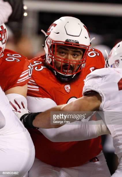 Defensive tackle Lowell Lotulelei of the Utah Utes rushes the passer during the second half of an college football game against the Stanford Cardinal...
