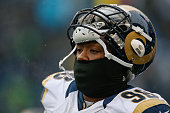 Defensive tackle Nick Fairley of the St Louis Rams looks on prior to the game against the Seattle Seahawks at CenturyLink Field on December 27 2015...