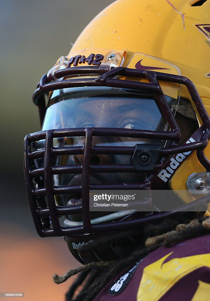 Defensive tackle Will Sutton #90 of the Arizona State Sun Devils watches from the sidelines during the college football game against the Washington Huskies at Sun Devil Stadium on October 19, 2013 in Tempe, Arizona. The Sun Devils defeated the Huskies 53-24.